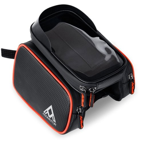 Addmotor Bike Frame Bag Bicycle Top Tube Storage Cell Phone Bags Holder Waterproof Sensitive Touch Screen